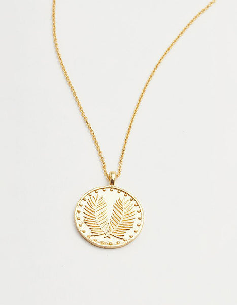 Gorjana Palm Coin Necklace (SOLD OUT