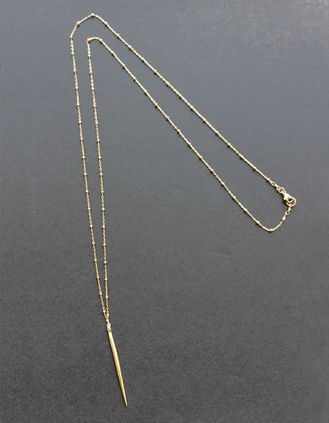 Lexi Spike Necklace in 14k Gold