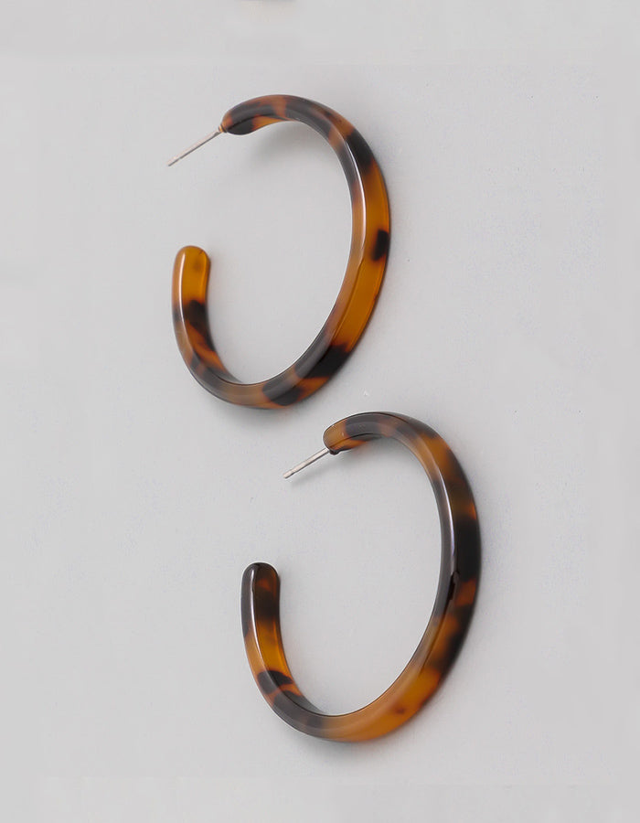 Everette Leopard Acetate Earrings