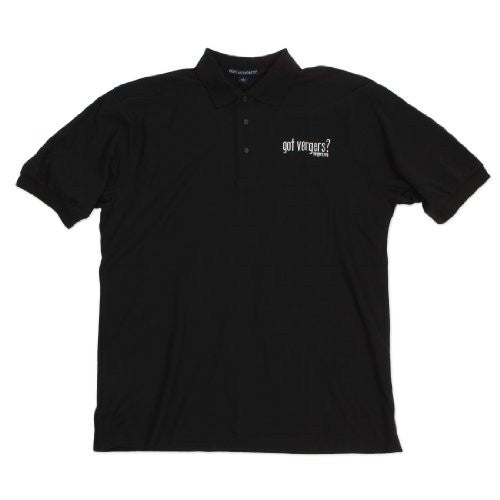 Men's golf shirt:  got vergers?