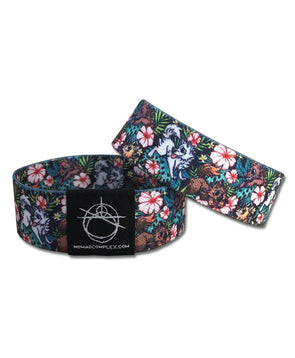 nomad complex canis hibiscus puppy dog floral woven wristband vancouver