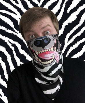 nomad complex hyena zebra stripes bandanimal bandana animal face vancouver polyester colorful breathable apparel accessories