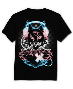 nomad complex wolf trans pink blue white pride metallic foil tshirt cotton apparel crew cut vancouver listen to your heart LTYH LTY<3 LGBT trans