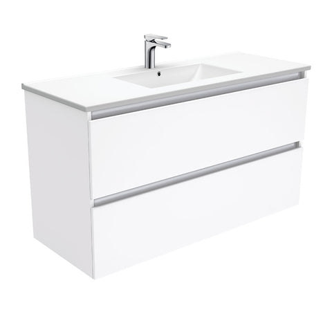 1200 WALL HUNG ALL DRAWER Vanity, Slimline Ceramic Top