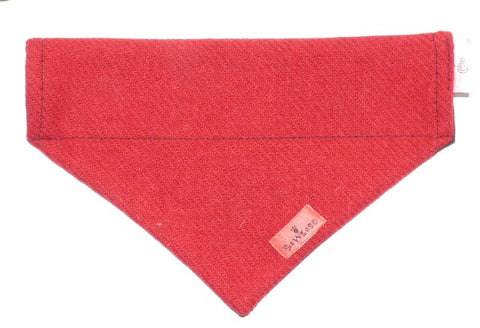 (Cranberry) Bowzos Harris Tweed Bandana - BOWZOS