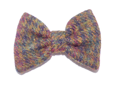 (Bobby) Houndstooth Harris Tweed Bow - BOWZOS