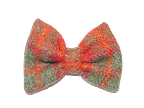 (Arran) Bowzos Bow - Harris Tweed Orange Check - BOWZOS