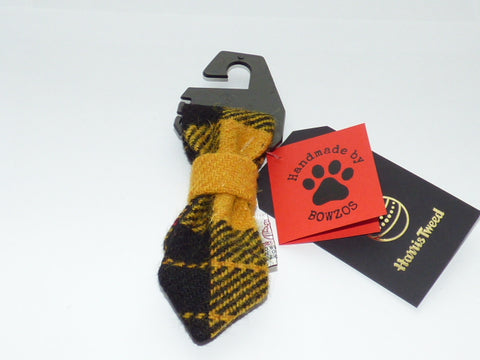 Bowzos Harris Tweed Dog Tie - MacLeod Modern Dress Tartan - BOWZOS