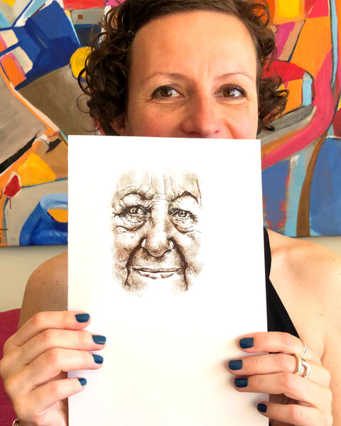 Drawing Faces with France: Wrinkles