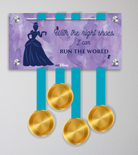 Acrylic Art: Princess Half Marathon Weekend Medal Display - Cinderella