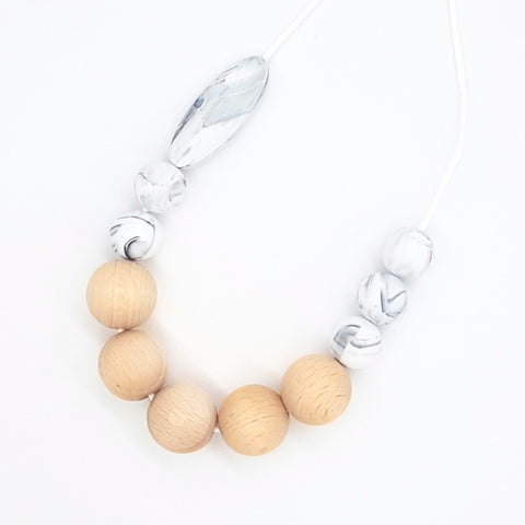 Marble Marquise Necklace