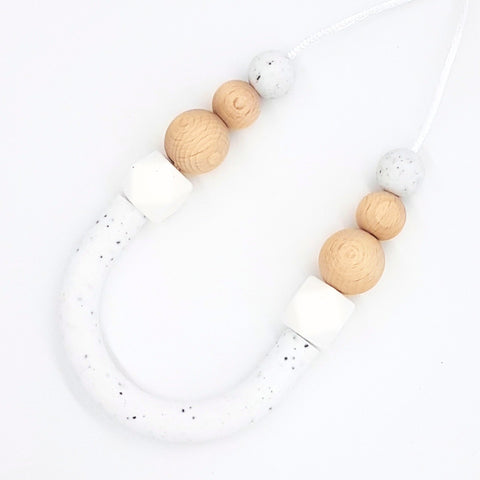 Granite & Beech Bow Necklace