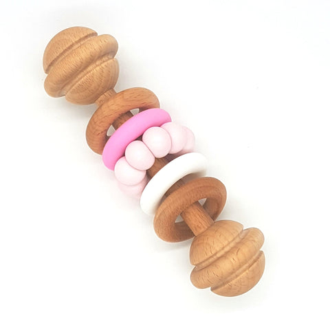 Baby Pink Vintage Rattle