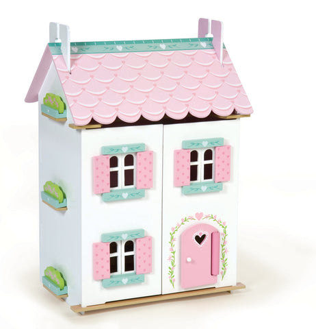 Wooden Dolls House - Sweetheart Cottage