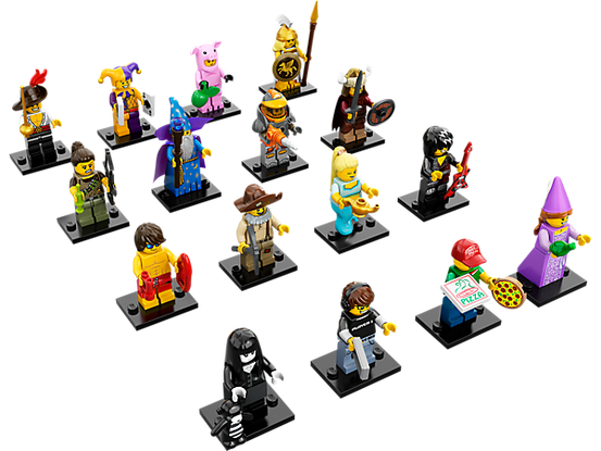 Series 12 Complete Collection 16 LEGO Minifigures 71007