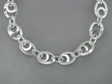 SILVER LOOP CHAIN NECKLACE