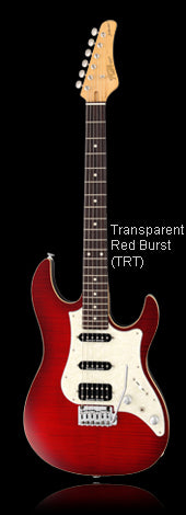FGN JOS-FM-R Tranparent Red Burst