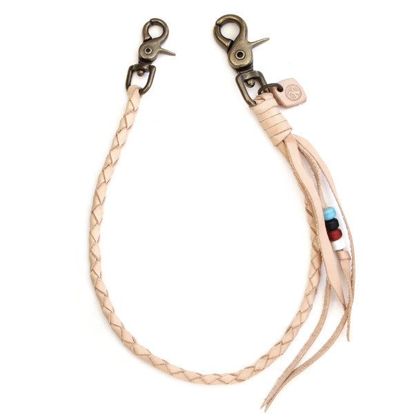 braided veg tan leather tether