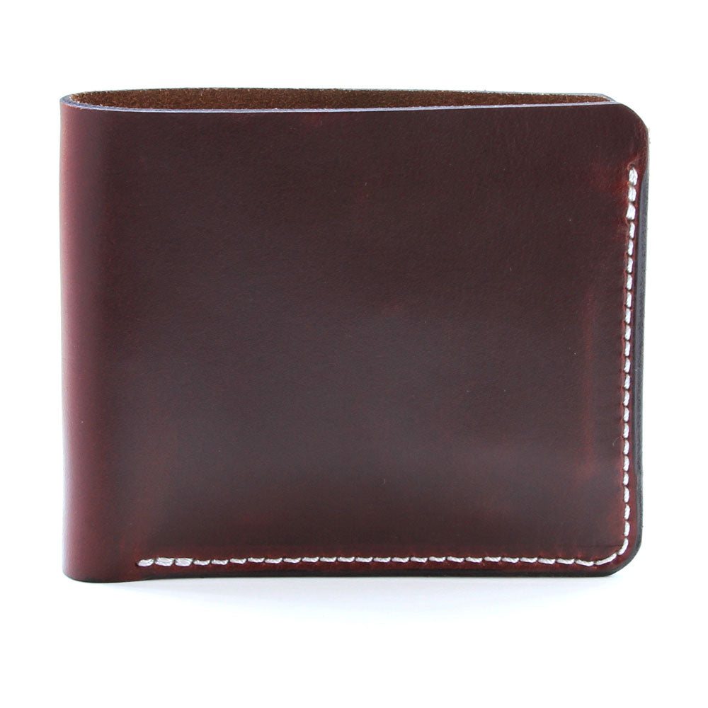 Horween brown leather wallet side