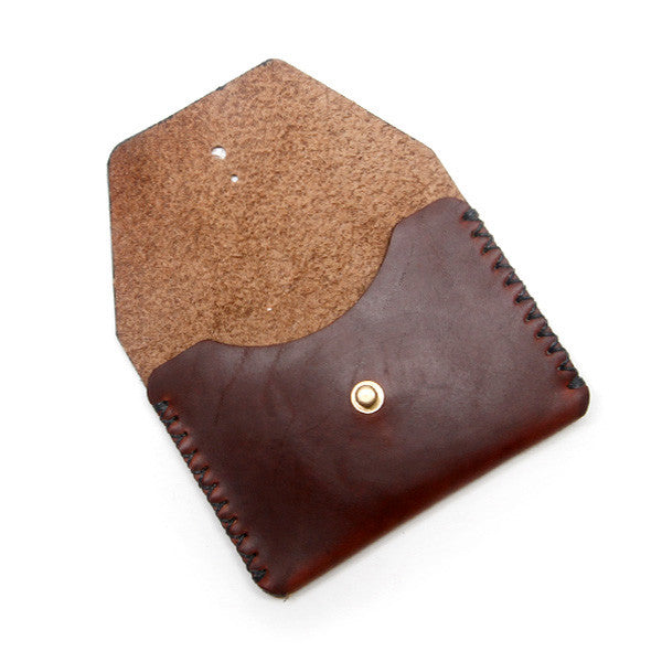 brown horween chromexcel card case
