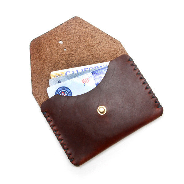 Horween brown leather card wallet