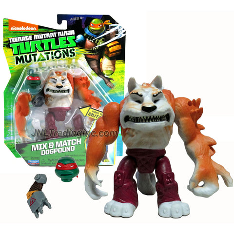 "Playmates Year 2015 Teenage Mutant Ninja Turtles TMNT ""Mutations Mix and Match"" Series 5 Inch Tall Action Figure - DOGPOUND with Raphael's Head and Metalhead's Right Arm"
