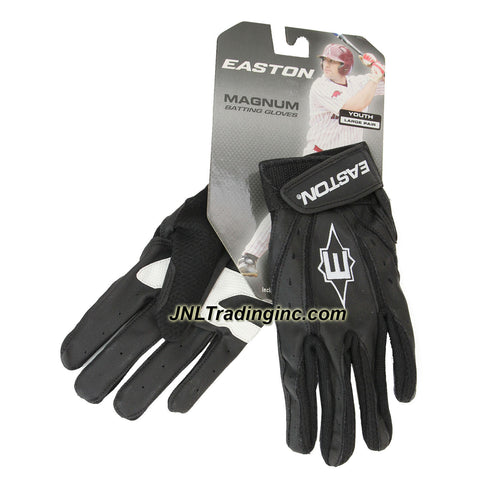 Easton Magnum Series Youth Baseball Softball Batting Glove - Color: Black, Size: Large