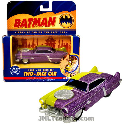 Corgi Year 2005 DC Comics Batman Series 1:43 Scale Die Cast Vehicle - 1950's TWO-FACE CAR with Opening Hood