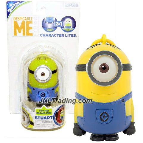 "Tech 4 Kids ""Despicable Me - Minion Made"" Movie Series 4 Inch Tall Character Lites Figure - STUART with Light Up Feature and Clip On"