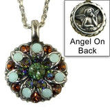 Mariana Guardian Angel Crystal Pendant Necklace 3201  Blue Opal Topaz - ILoveThatGift