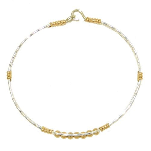 Ronaldo Power of Prayer 188M Bracelet Silver w Gold Wraps & 7 Gold Beads - ILoveThatGift