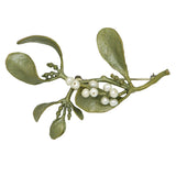 Mistletoe with Pearls Brooch Pin  by Michael Michaud Nature Silver Seasons 5609