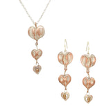 Bleeding Heart Necklace & Earring Set by Michael Michaud Nature Silver Seasons 9262