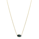 Kendra Scott Elisa Gold Pendant Necklace In Dark Blue Green Ret $60 - ILoveThatGift