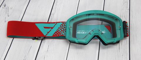 Flow Vision Teal/Red Section Goggles