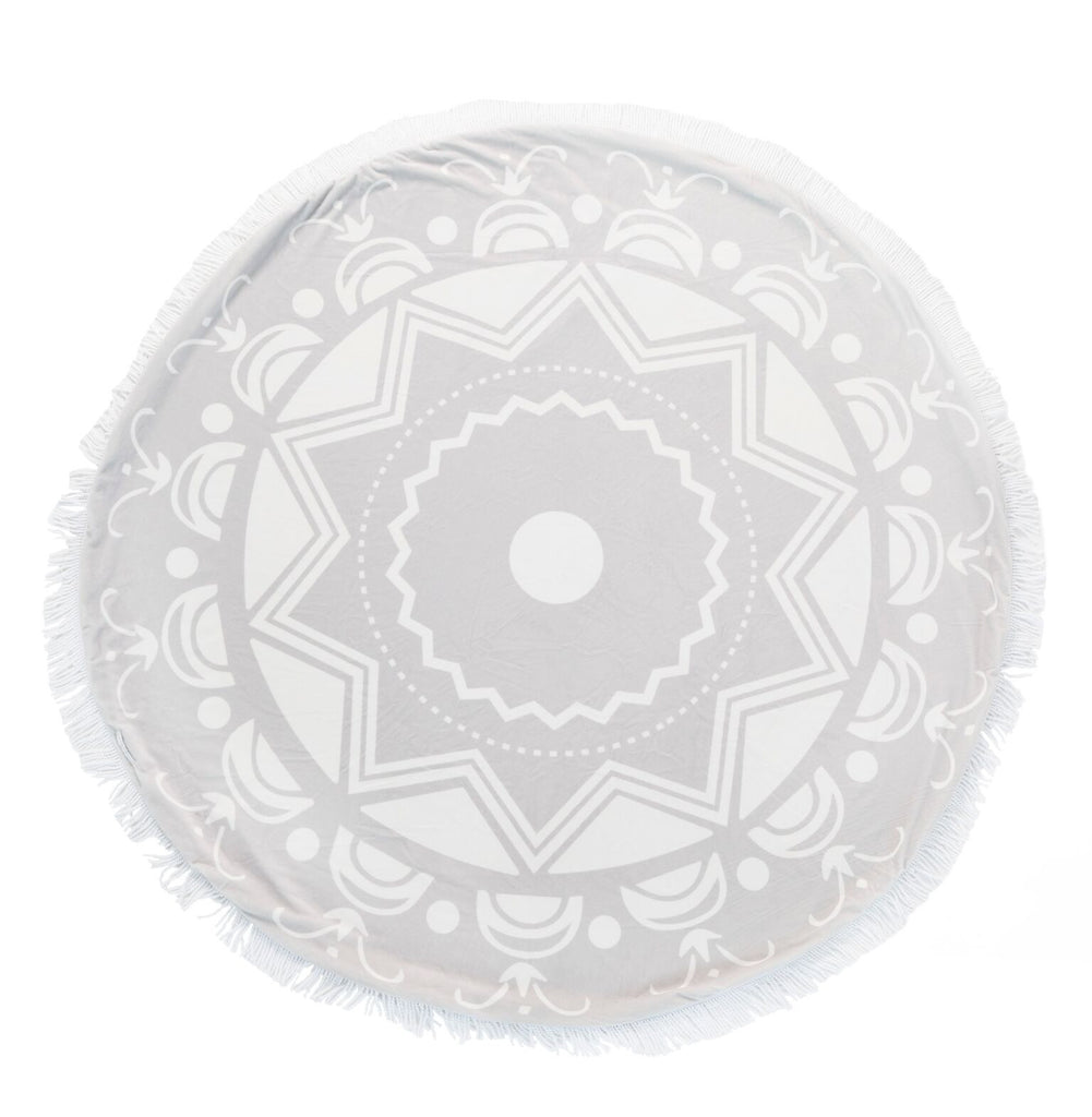 Bliss™ Round Blanket - Silver