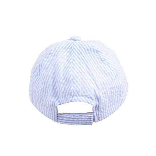Seersucker Hat - Kids - Blue