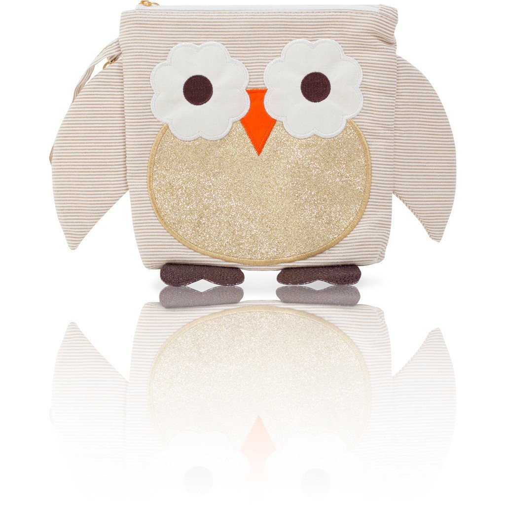 Snack Bag - My First Buddy Snack Bag - Glitter Gold Owl