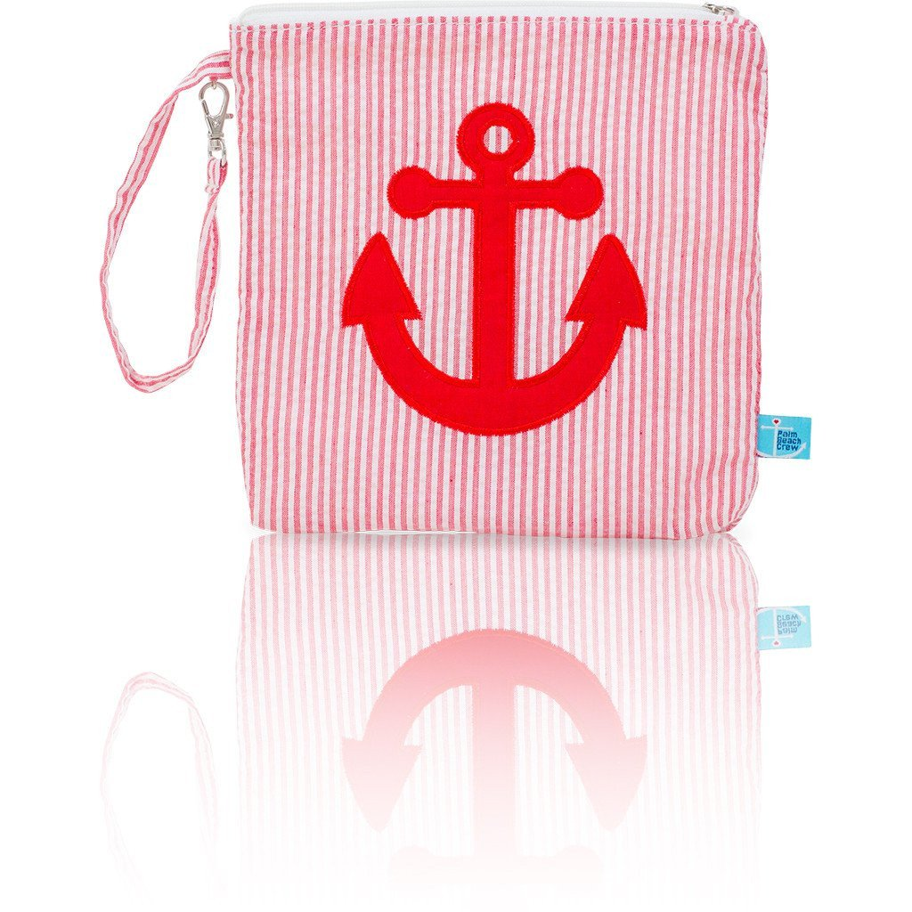 Snack Bag - Seersucker Mini Snack Bag - Seaside Collection - Anchor