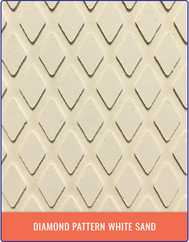 Treadmaster Diamond Pattern - White Sand
