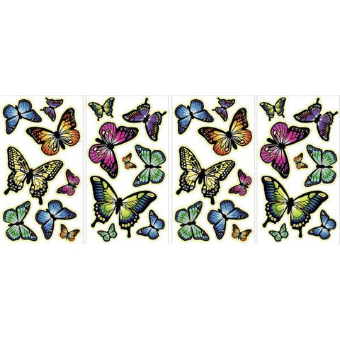 Butterflies Glow in the Dark Wall Art Kit