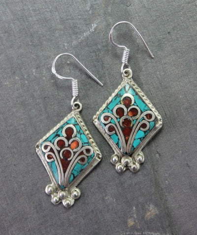 Earrings Default Anuyoga Tibetan Earrings je129