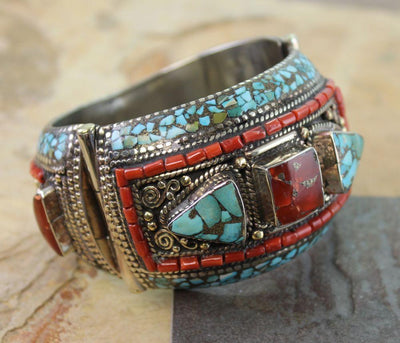 Jewelry,One of a Kind,New Items,Mother's Day Default Large Tibetan Bracelet jb056