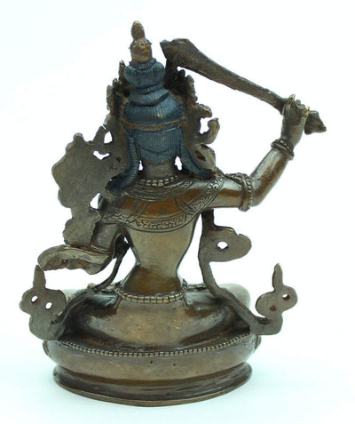 Statues,One of a Kind,New Items,Buddha,Tibetan Style Default 5 inch Manjushri Bronze Statue st114