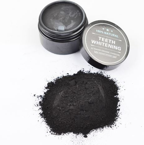 100% Natural Activated Black Charcoal Powder Toothpaste Brighter Smiles