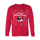 Bah Hum Pug Ugly Christmas Sweater - Unisex