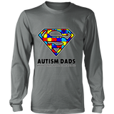 Autism Super Dad Mens District Long Sleeve for Autism Awareness - Free Shipping