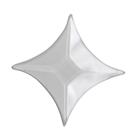 1.25 Inch Clear Star Bevels pack of 10