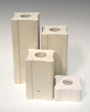 1 Inch x 2 Inch Kiln Posts - Set of 4