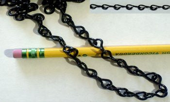 16 Gauge Jack Black Chain - 10 Feet